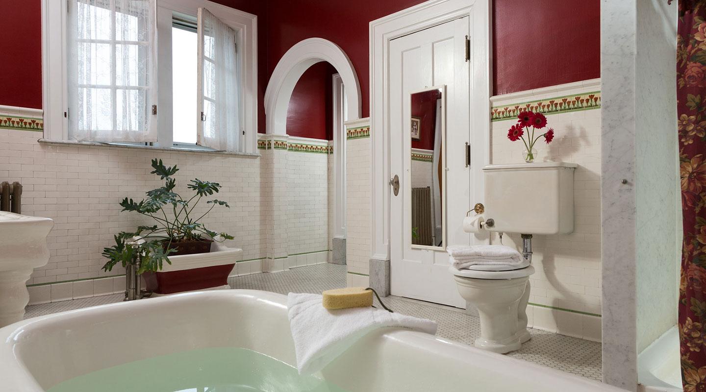 Bathroom at the Mercersburg Inn