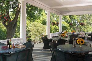 The common porch at Mercersburg Inn