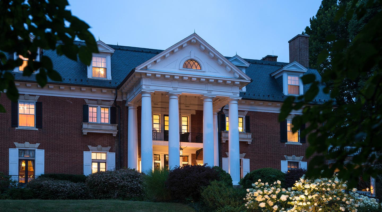 Mercersburg, PA Hotel at dusk