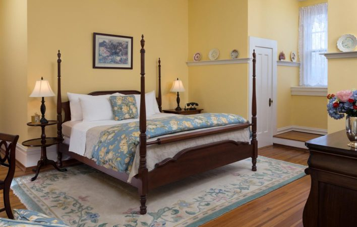The bedroom in Academy View at the Mercersburg Inn