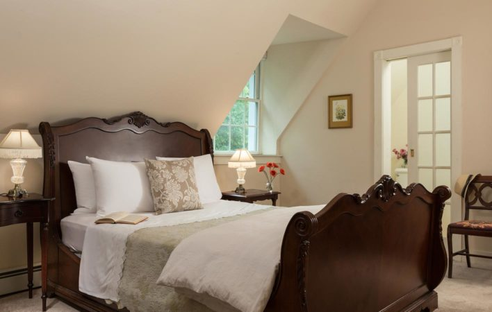 The bedroom in Carriage Houth South at the Mercersburg Inn