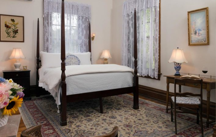The bedroom in Garden View at the Mercersburg Inn