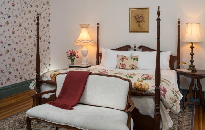 The bedroom in the Loft at the Mercersburg Inn