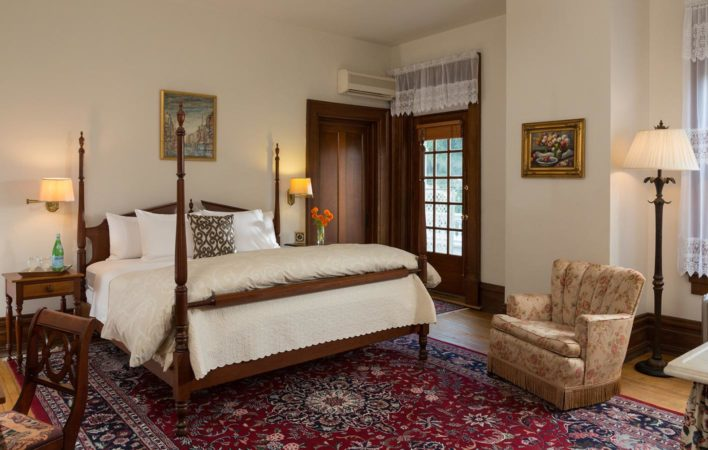 The bedroom in Tidd's Room at the Mercersburg Inn