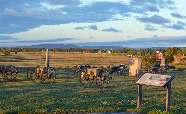 One of the Civil War sites at Gettysburg, PA