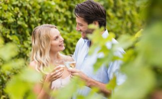 Honeymoon in Pennsylvania wine tasting at the Mercersburg Inn