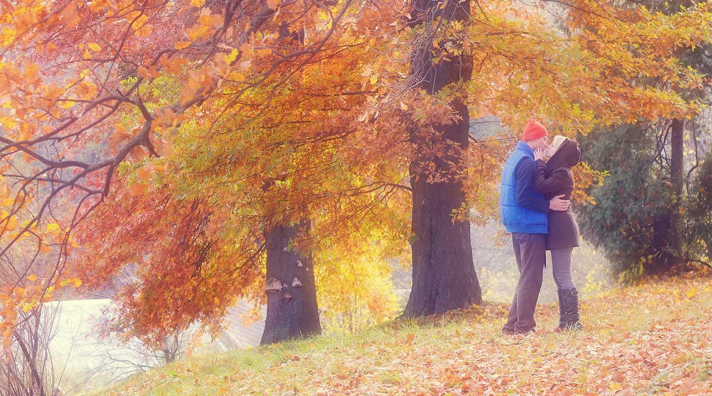 Honeymoon in Pennsylvania in the fall