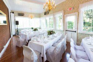 Wedding venue in Porch Dining Room at the Mercersburg Inn