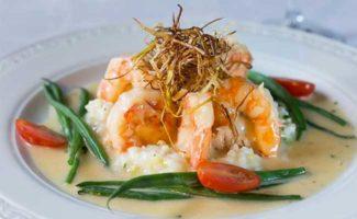 Shrimp and Vegetables Dinner at Byron's Dining Room in the Mercersburg Inn