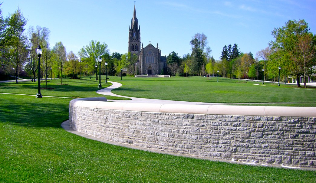 Chapel and the beautiful lawn at the Mercersburg Academy