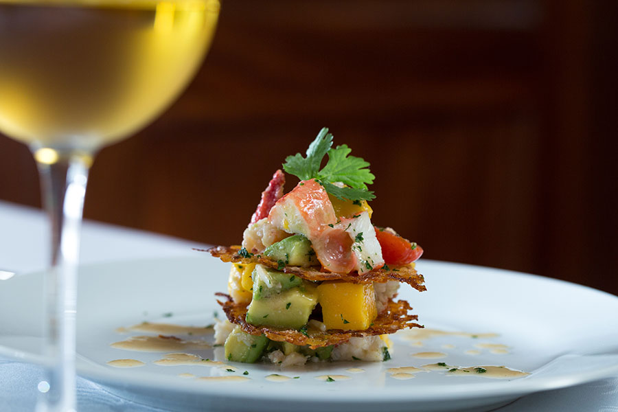 Lobster, Avocado and Mango Napoleon at Byron's Dining Room