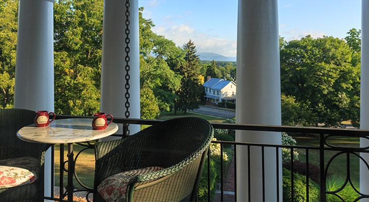 Balcony in the Dressing Room at the Mercersburg Inn