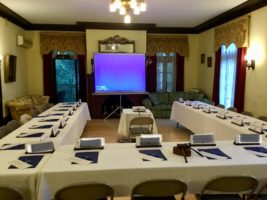 Corporate Meeting in a common area at the Mercersburg Inn