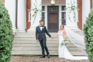 Wedding in front of the main building at the Mercersburg Inn