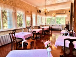 The porch dining room