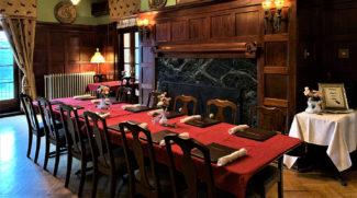 Dining table set for brunch