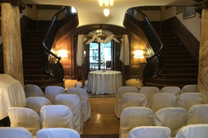 Ceremony decor at our Mercersburg, PA wedding venue