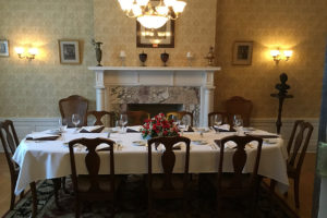 Beautiful indoor table setting at our PA B&B