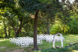 Outdoor wedding ceremony at our PA wedding venue