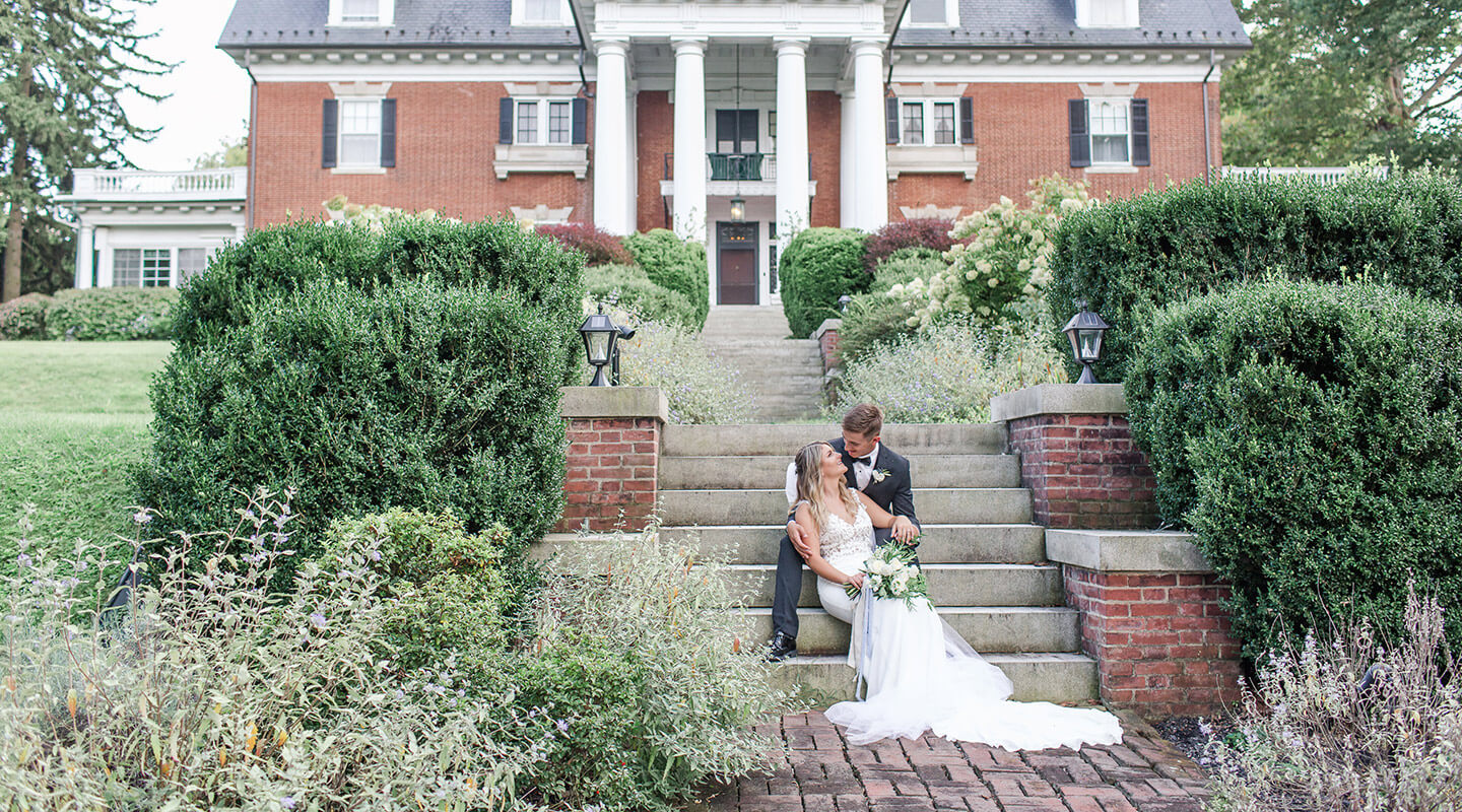 Happy bride and groom at their beautiful Pennsylvania wedding