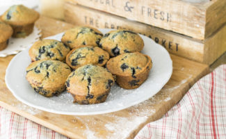 Muffins on a Plate